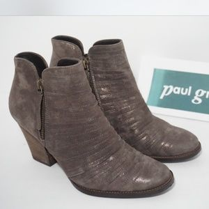 🆕Paul Green Ankle Boots Bootie Zip Earth Brown